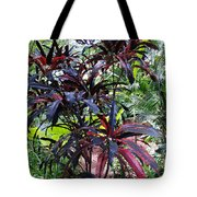 Red Trees Tote Bag