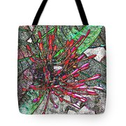 Red Tropical Flower Tote Bag