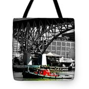 Red Tug On Cuyahoga River Tote Bag