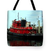 Red Tugboat Tote Bag