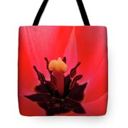 Red Tulip Art Print Inside Tulips Flowers Baslee Troutman Tote Bag
