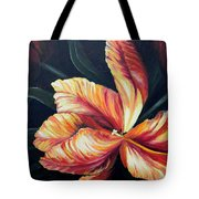 Red Tulip Blossom Tote Bag