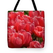 Red Tulip Buds Crest The Earth Tote Bag