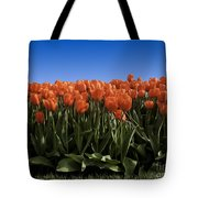 Red Tulip Garden Tote Bag