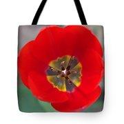 Red Tulip In 3d Tote Bag