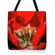 Red Tulip Texture Tote Bag