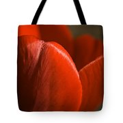 Red Tulip Up Close Tote Bag