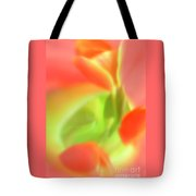 Red Tulips In Vase In Abstract Style #1. Tote Bag