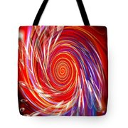 Red Twirl Tote Bag