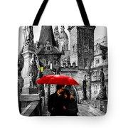 Red Umbrella Tote Bag by Yuriy  Shevchuk