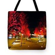 Red Urban Trees Tote Bag