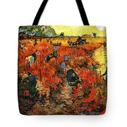 Red Vineyard Tote Bag