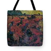 Red Vineyards  Tote Bag