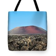 Red Volcano Tote Bag