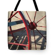Red Waggon Wheel Tote Bag