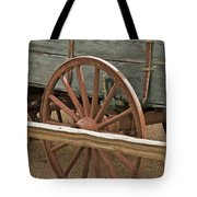 Red Wagon Wheel Tote Bag