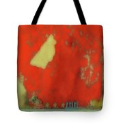 Red Wall With Boot  Tote Bag