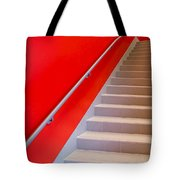 Red Walls Staircase Tote Bag
