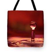 Red Water Drop Tote Bag
