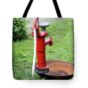Red Water Pump Tote Bag
