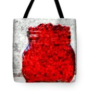 Red Watercolor Beads Tote Bag