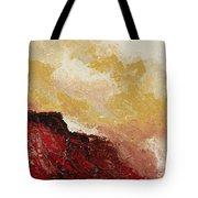 Red Waves Tote Bag