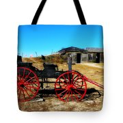 Red Wheels Tote Bag