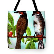 Red-whiskered Bulbul Bird, #246 Tote Bag