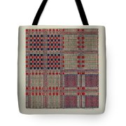 Red, White & Blue Coverlet Tote Bag