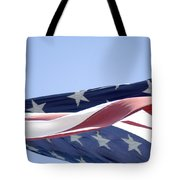 Red White And Blue - American Flag Tote Bag