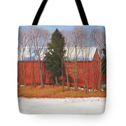 Red White And Blue Barn Tote Bag