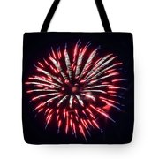 Red White And Blue Fireworks Tote Bag