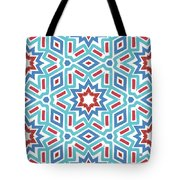 Red White And Blue Fireworks Pattern- Art By Linda Woods Tote Bag