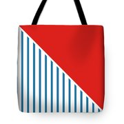 Red White And Blue Triangles 2 Tote Bag