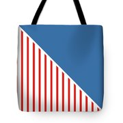 Red White And Blue Triangles Tote Bag by Linda Woods