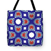 Red White And Blue Tulips Pattern- Art By Linda Woods Tote Bag