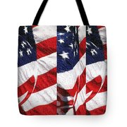 Red White Blue - American Stars And Stripes Tote Bag