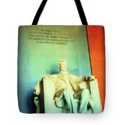 Red White Blue Lincoln Tote Bag