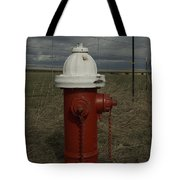 Red  White Hydrant Tote Bag