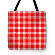 Red White Tartan Tote Bag
