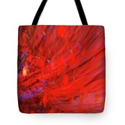 Red Wind Tote Bag
