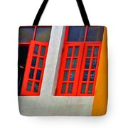 Red Windows Tote Bag