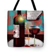 Red Wine For Two Tote Bag