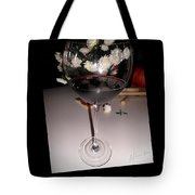 Red Wine With White Mums Tote Bag