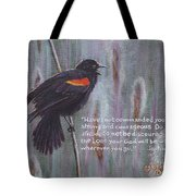 Red Wing Blackbird Tote Bag