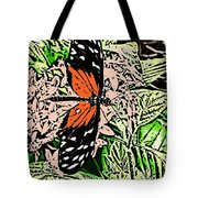 Red Winged Butterfly Tote Bag