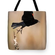 Red-winged Takeoff Tote Bag