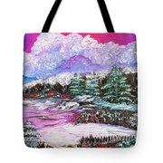 Red Winter Berries Tote Bag