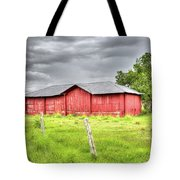 Red Wood Barn - Edna, Tx Tote Bag