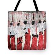 Red Woods Angels Black Like Me Tote Bag